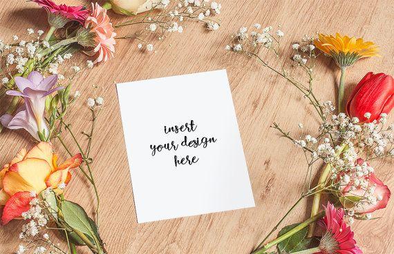 Elegant Invitation Card/Print Mockup With Spring by JeanBalogh