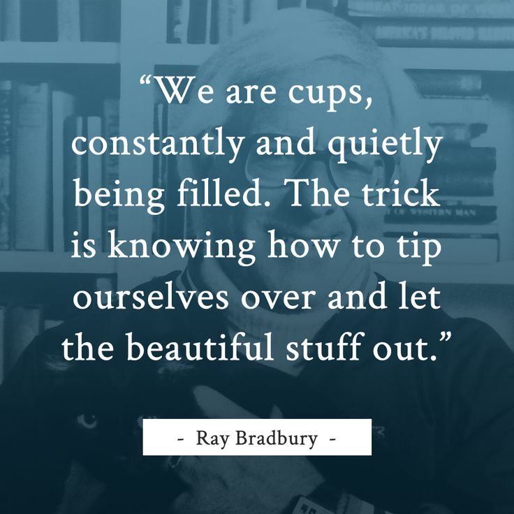 Ray Bradbury writing quote
