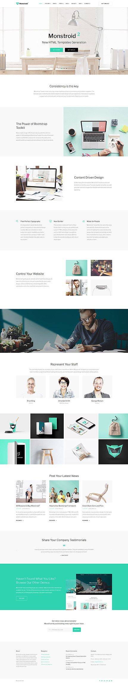 Business website inspirations at your coffee break? Browse for more Bootstrap #templates! // Regular price: $75 // Sources available: .HTML, .PSD #Business #LastAdded #Bootstrap #Monstrold