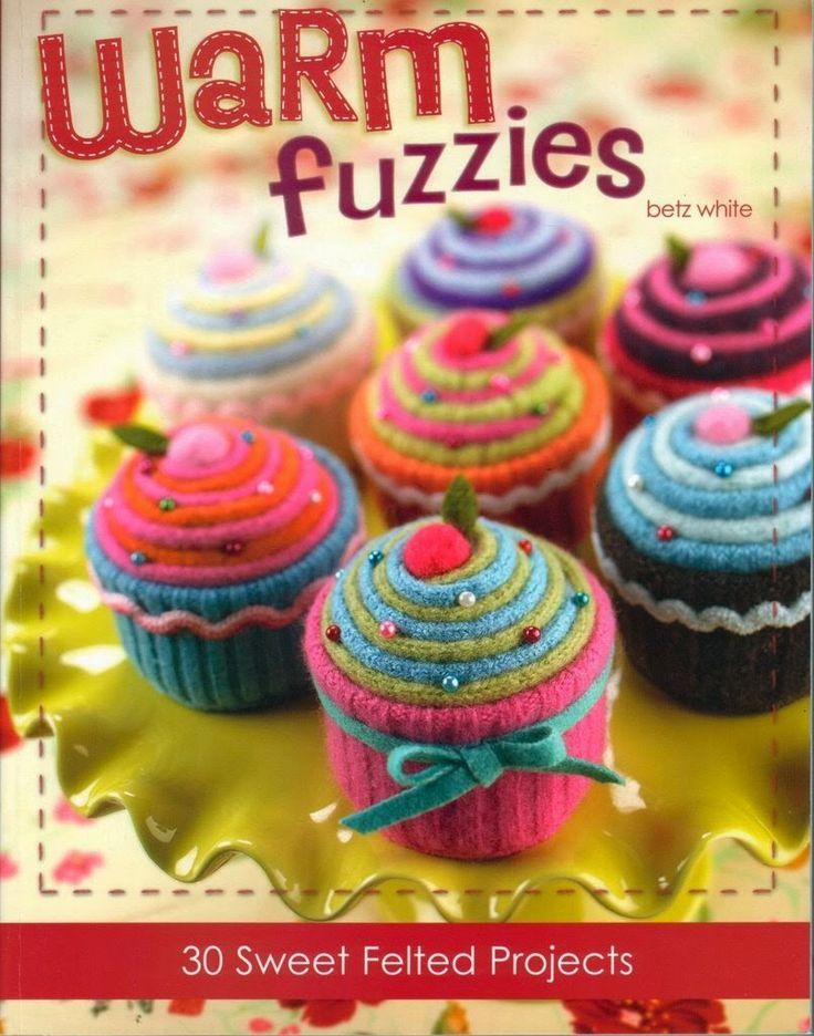 Como hacer cupcakes de fieltro