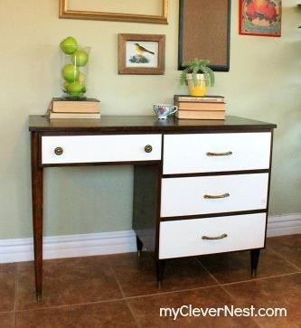 {Mid-Century Modern Desk Revival!}