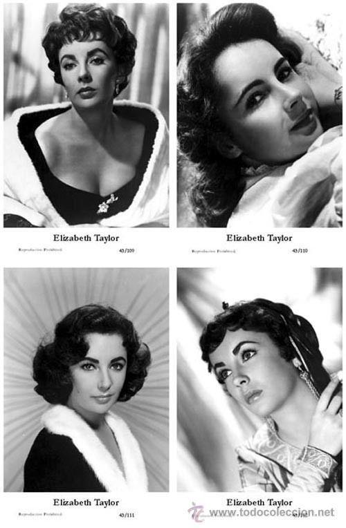 ELIZABETH TAYLOR - Film star Pin Up - Publisher Swiftsure Postcards 2000 SET 105-08