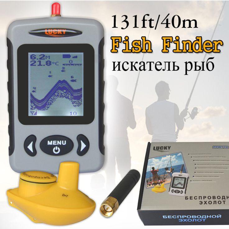 Lucky FFW718 Depth Sonar Fish Finder Wireless Sounder for Fishing Sonar Alarm Fishfinder 100M Depth River Transducer Sensor #B4