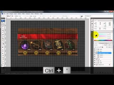 Photoshop tutorials — Part of game user interface. - YouTube