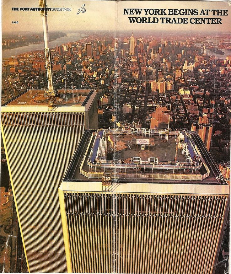 From a brochure for the Observation Deck of the World Trade Center South Tower, Tower Two - The World Begins...