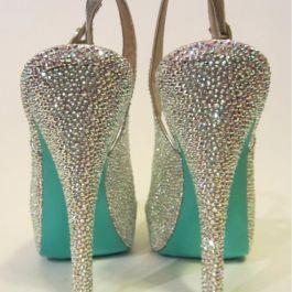 Crystal Slingback heels