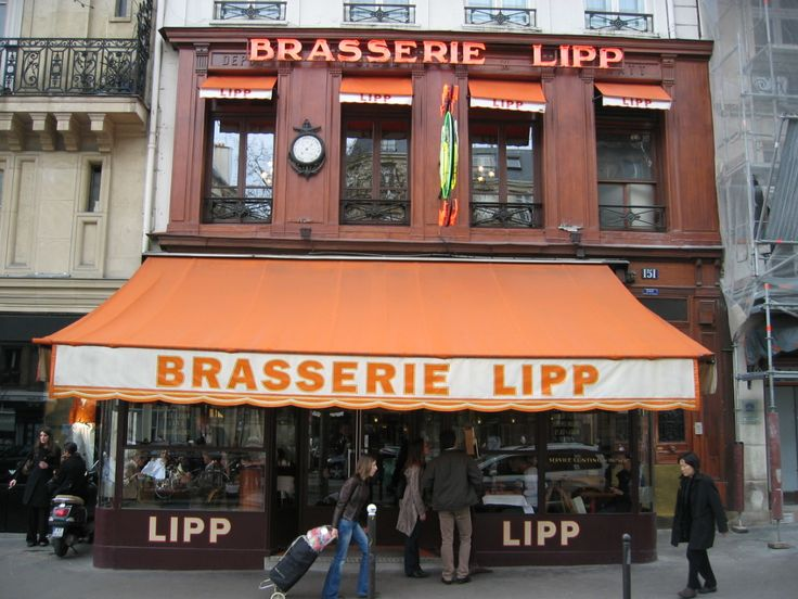 Brasserie Lipp in Paris France. I celebrated my 30th birthday there. My mother's birthday present to me.
