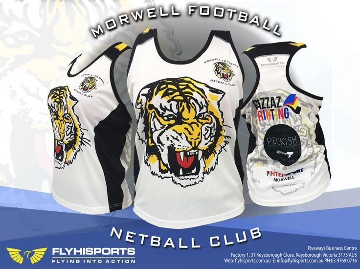 @flyhisports #morwellfnc #morwell #football #netball #club #tigers #singlets #sublimation #flyhisports
