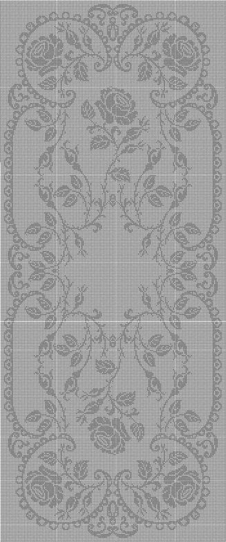 Filet Crochet Runner Chart