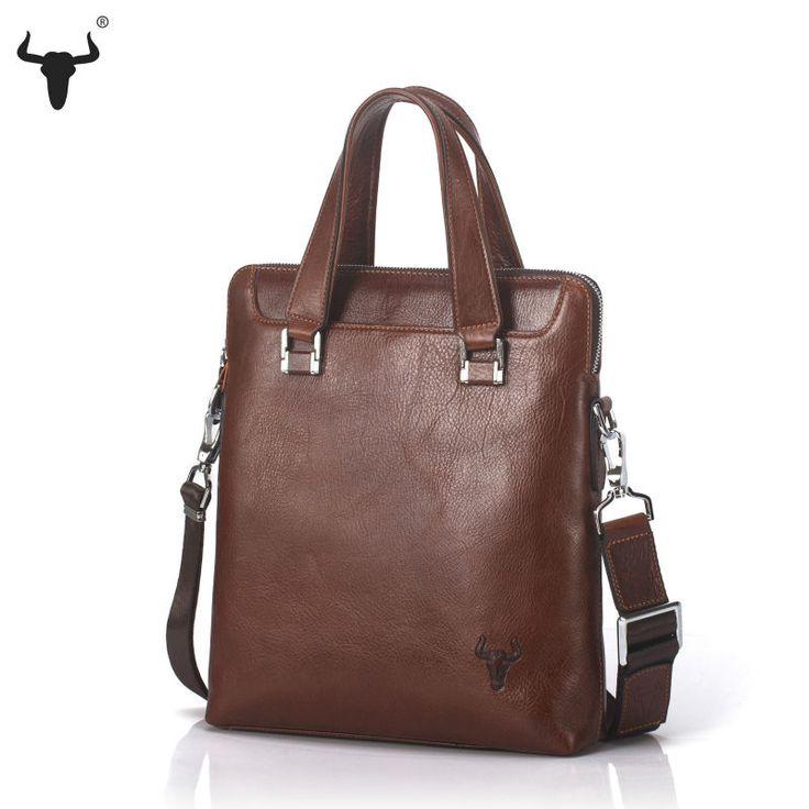 Unisex Briefcase Oil Wax Genuine Leather Messenger Bag - Pick Pay Post