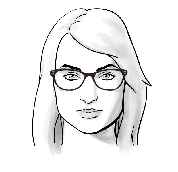 Fit Guide: #Glasses for Square Face Shapes   The Look   ClearlyContacts.ca – #Eyewear + Fashion