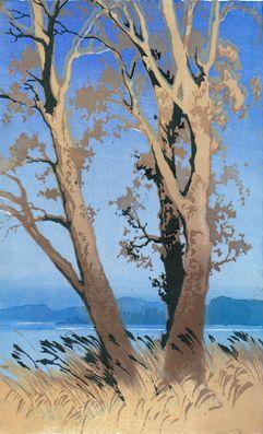 VORLÄUFIGES BILD ✨ Oscar Droege (1898-1983), Farb-Holzschnitt ::: Colour Woodcut PROVISIONAL PICTURE