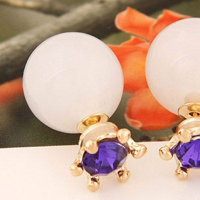Double Pearl Purple with Clear! https://www.facebook.com/pages/Collares-y-Accesorios-Dazzling-Doll/865787360105631?ref=hl
