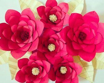 Papier bloem afdrukbare sjablonen Giant door CatchingColorFlies
