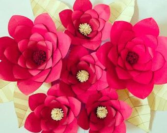 DIY Large Paper Flower Tutorial with by CatchingColorFlies on Etsy