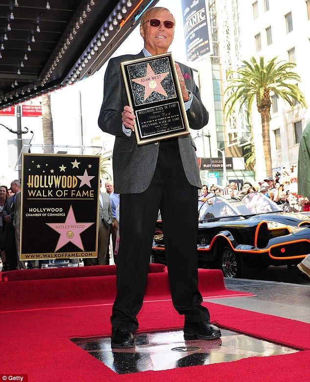 Holy stars Batman! 1960s Caped Crusader Adam West finally gets spot on Hollywood Walk of Fame