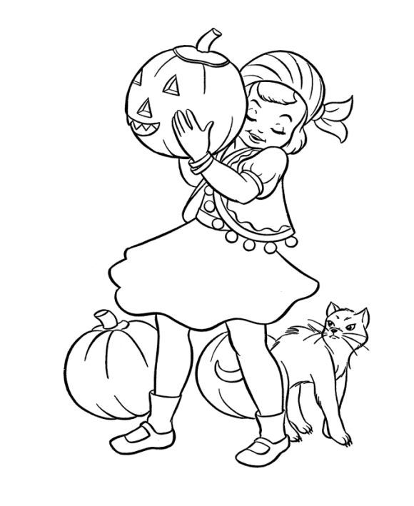 Hallowen Coloring, Coloring Pages For Girls Halloween: coloring pages for girls halloween