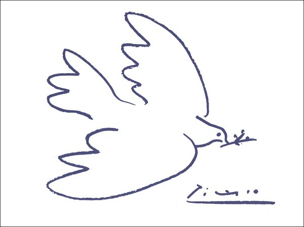 Week 2: Line Drawing PICASSO Dove of peace