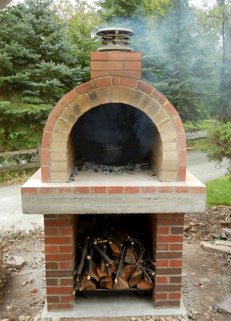 This beautiful wood fired oven resides in northern for Outdoor oven diy