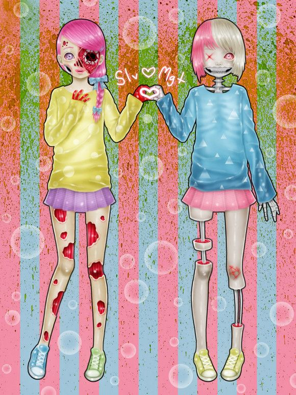 Cute  Creepy Art by Saccstry
