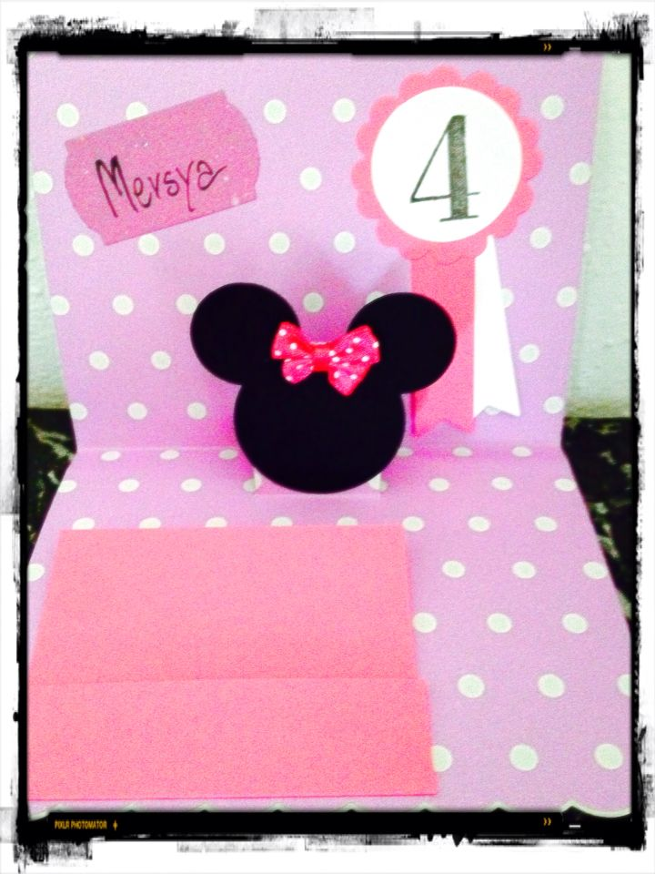 Birthday's card - Minnie Mouse  - sizzix