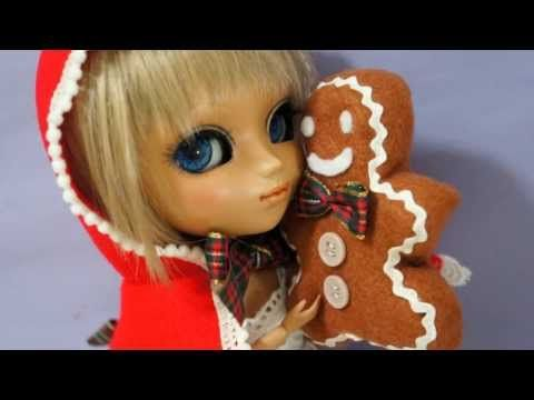 ▶ How to make doll outfit 28 Christmas hoodie and Gingerbread man plush toy - YouTube