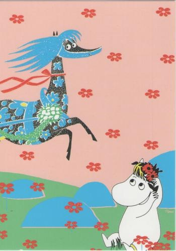 ◉◡◉  Writer and artist Tove Jansson  come from Finland ◉◡◉  -  Finland is country between Sweden  and  Russia   ◉◡◉ ◉◡◉ ◉◡◉   this pictures characters are:  Primadonna's horse  and  Niiskuneiti ◉◡◉