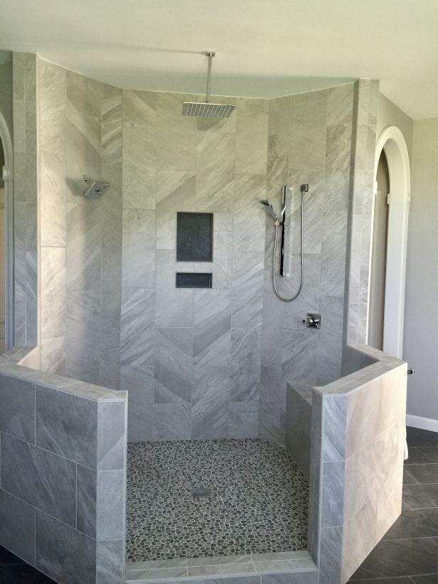 Amazing Bathroom Shower Ideas On A Budget Walk In Modern Bathroom Designs Diy Master Ceil Diy Bathroom Design Small Bathroom With Shower Bathroom Shower Walls