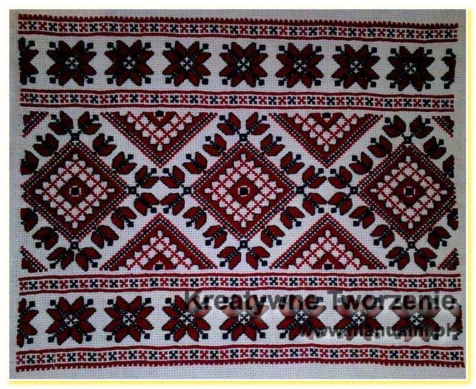 wyszywane poduszki haft krzyzykowy wzory ukrainskie (11)