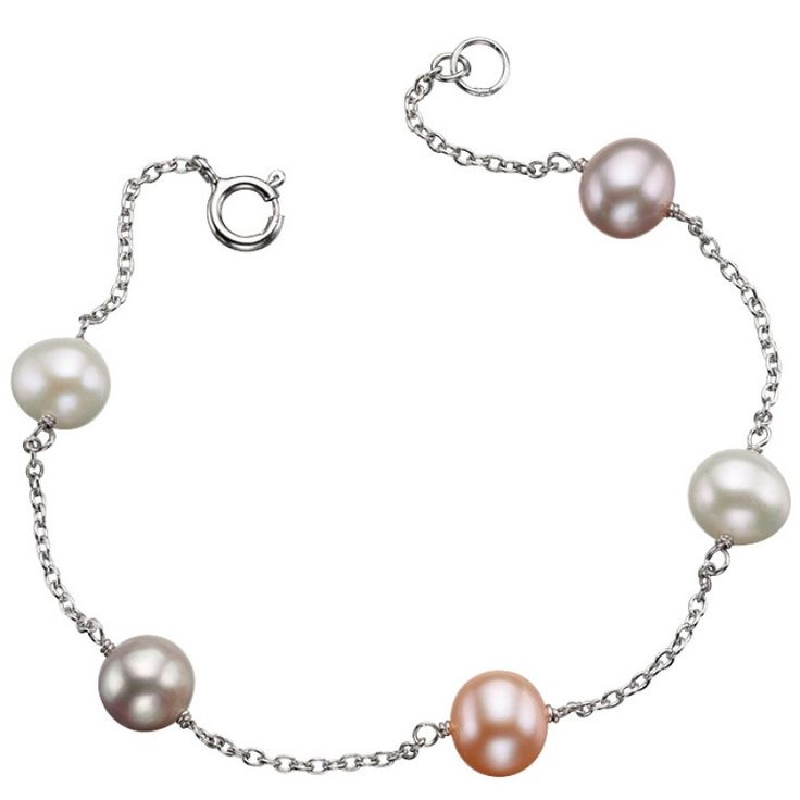 Silver Multicolour Pearl Bracelet #Catherinejones #cambridge #necklace #bracelet #pearls #jewellery #trends