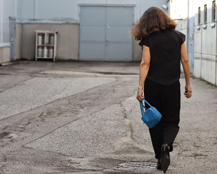 tiny blue bag