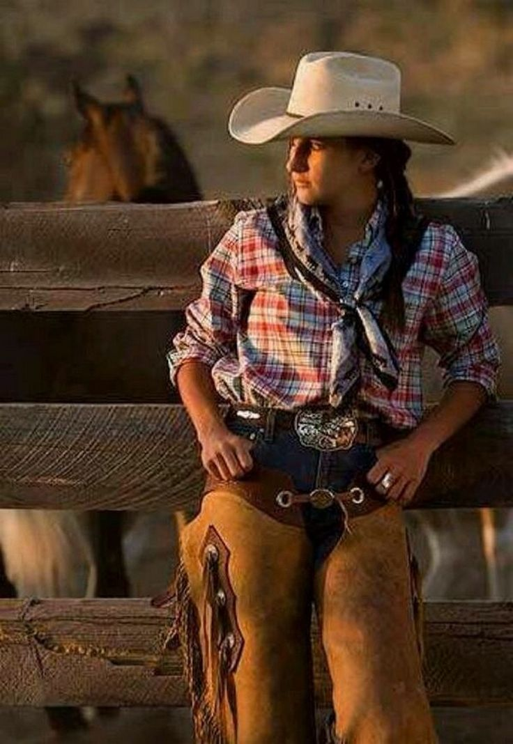 Sexy cowgirl in movie, young shaved closeup