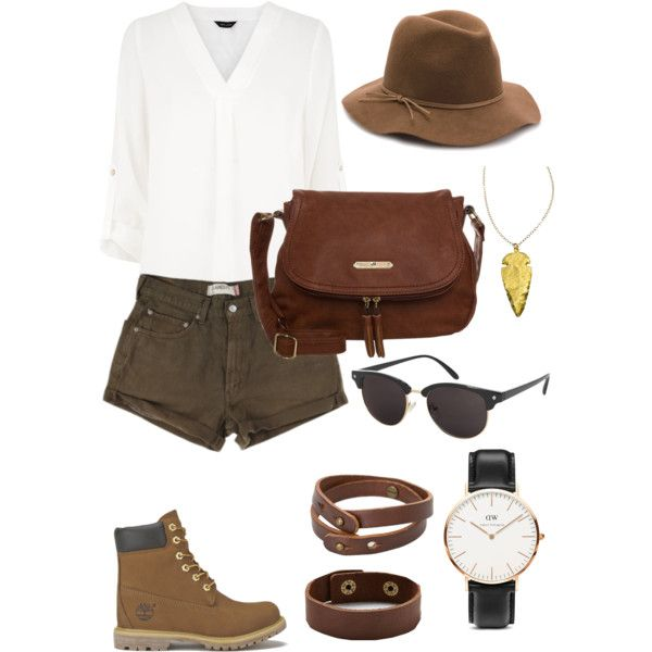 A fashion look from February 2015 featuring Levi's shorts, Timberland boots and Anna Field handbags. Browse and shop related looks.