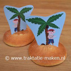 Afbeelding van de traktatie Pirateneiland http://www.traktatie-maken.nl/traktatie/Pirateneiland