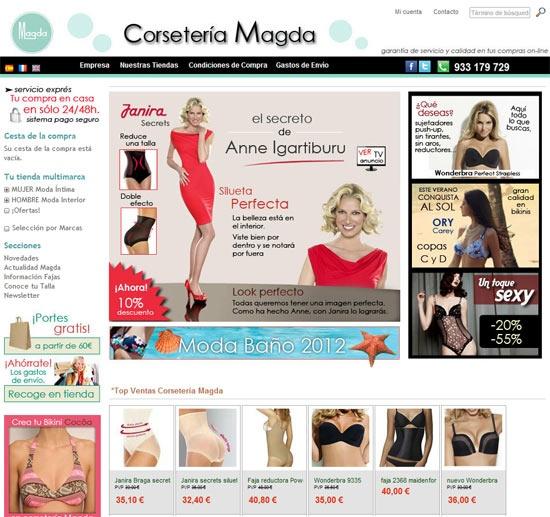 CORSETERIA MAGDA - Tienda Online - Tu tienda multimarca online de ropa interior de mujer y hombre. Calidad al mejor precio.