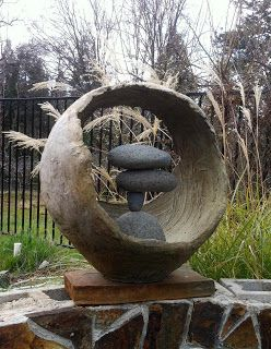 Deborah Bridges Art: New workshop - sculpting with cement