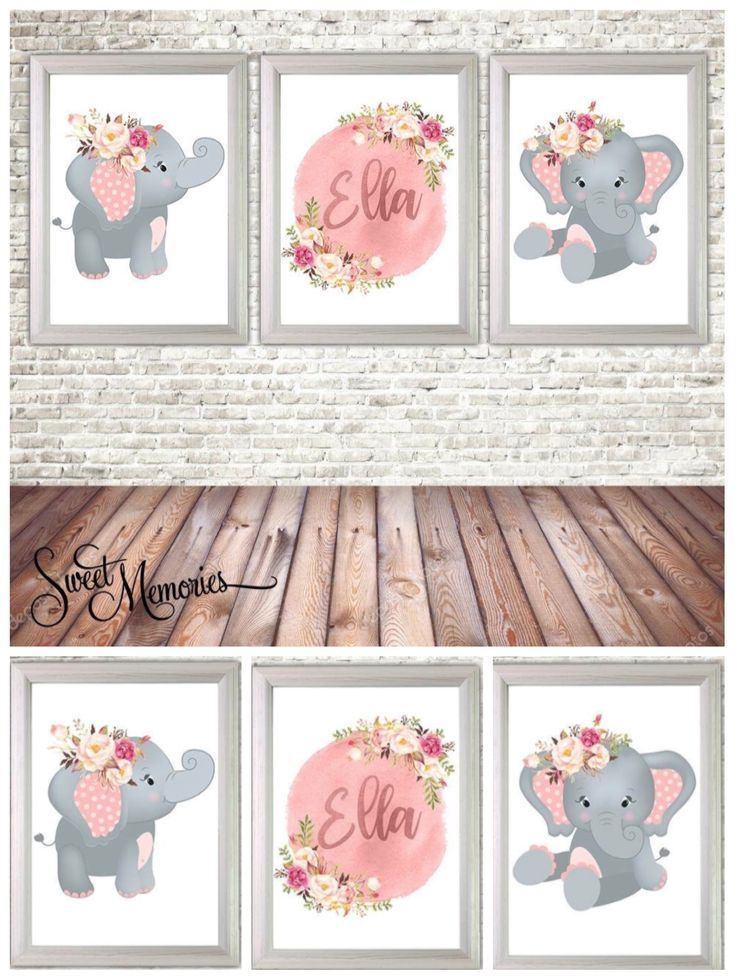 I love this elephant nursery wall art. this looks so amazing. Elephant wall print set, Birth Announcement Girl Print, Personalized Nursery Wall Art, Elephant Wall Art, Birth Print, Baby Keepsake #elephantnurserywallart #ad #nurserydecor