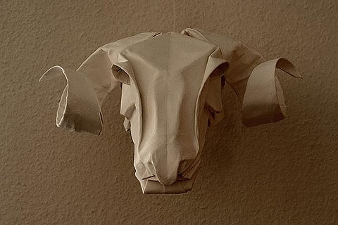 rams head paper taxidermy