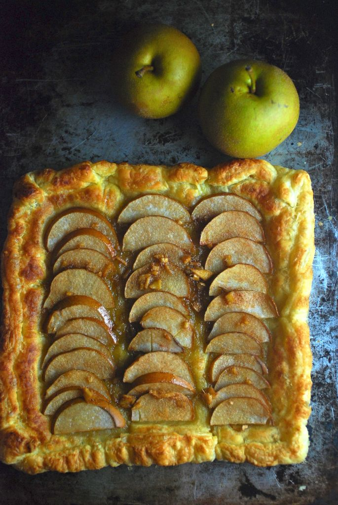 This easy Ginger Asian Pear tart is an elegant dessert that comes together in 25 minutes. It's so simple that I find it's perfect for adding dessert to an already complicated meal without piling on any additional stress. It's also a sweet little breakfast for a romantic getaway since all you need to make it is a toaster oven.