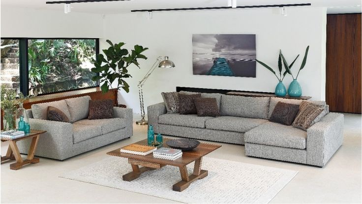 Canyon 3.5 Seater Fabric Lounge with Chaise - Lounges - Living Room - Furniture, Outdoor & BBQs | Harvey Norman Australia