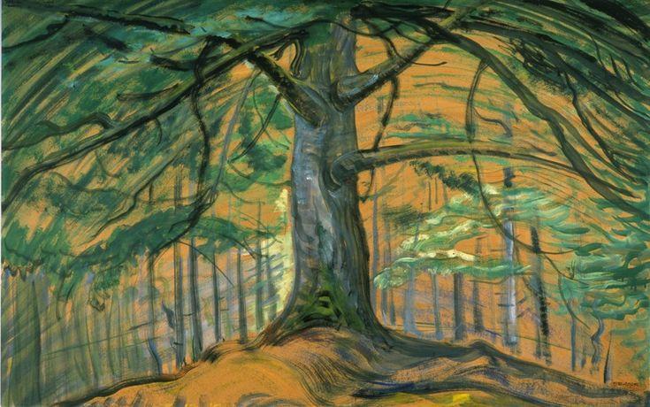 Tree, 1935, Oil, Emily Carr