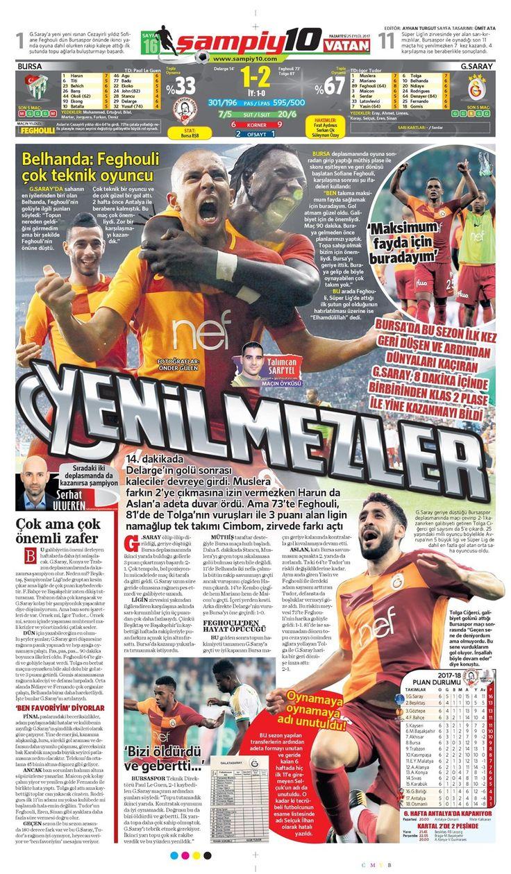 SPORUN MANŞETLERİ (25 EYLÜL 2017) - 21 | NTVSpor.net