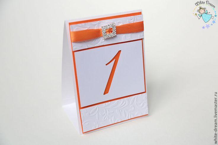 Купить или заказать нумерация столов Оранжевые мечты в интернет-магазине на Ярмарке Мастеров. Возможно изготовление в вашей цветовой гамме. Также в комплекте есть рассадочные карточки - 55ршт и план рассадки - от 1800…
