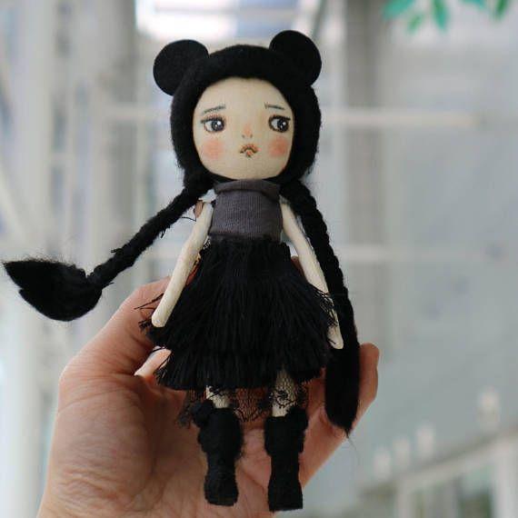 Girl dollTextile dollcloth doll rag doll