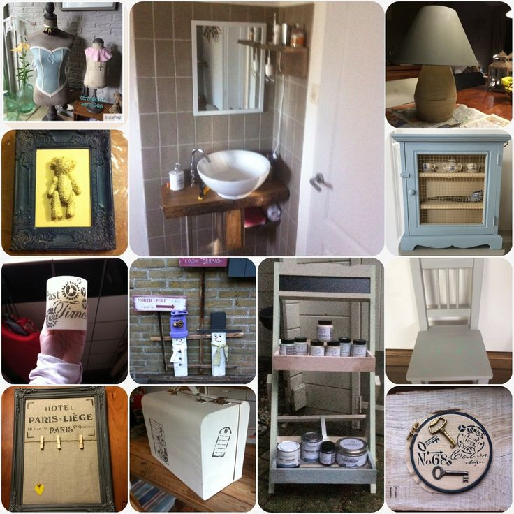Een paar voorbeeldjes van wat je allemaal met krijtverf kunt doen! Natuurlijk kun je ook je oude meubeltjes opknappen of van een nieuwe ikea kast iets heel eigen maken!