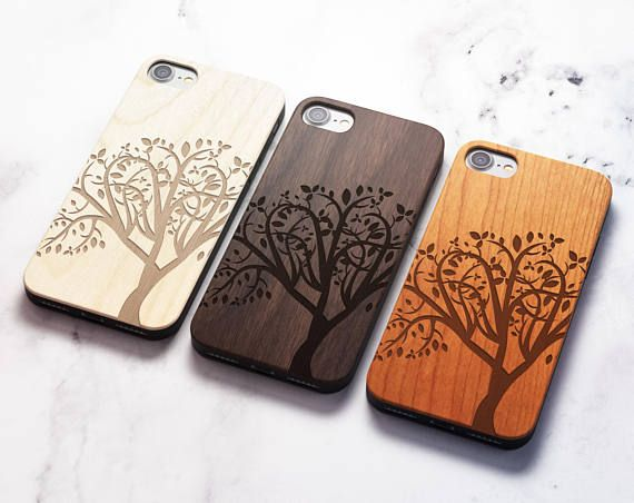 Real Wood iPhone 8 tree case also for iPhone 8 iPhone 7/8   Etsy ...