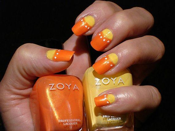 Fotos de uñas color naranja , 50 ejemplos , orange nails