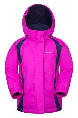 Mountain Warehouse Veste de ski enfant fille Garçon Blouson Chaud Hiver Honey: Tissu résistant à la neige - Revêtement hydrofuge durable…