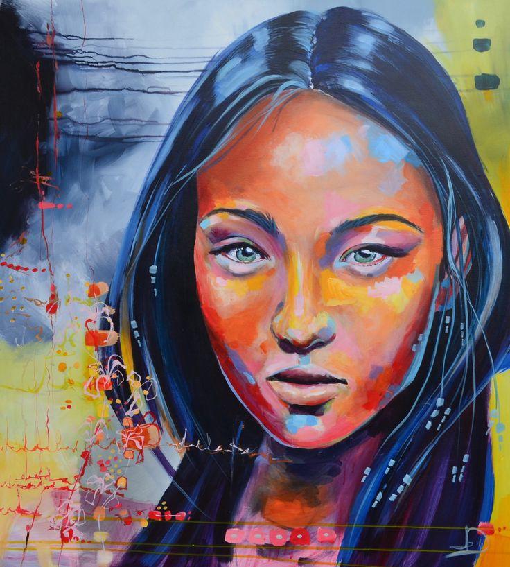 Neyteri 90X100 cm. acrylic on canvas. made by Naja Duarte.