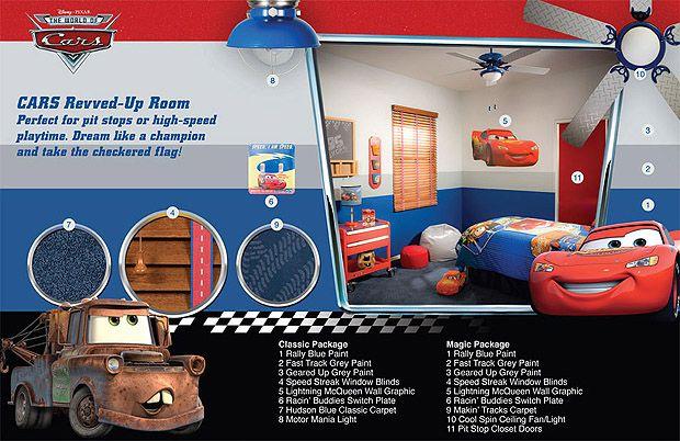 Disney Cars Room - Like the wall!!!
